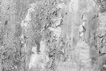 Photo sur Toile Vieux mur texturé sale Metal texture with scratches and cracks which can be used as a background