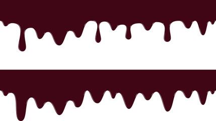 チョコレート 垂れ模様 パターン  横長2セット