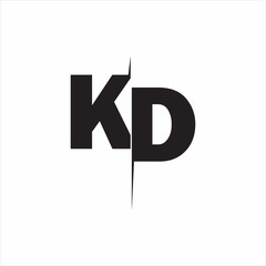KD Logo Letters white background