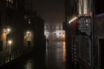 Venice with fog, Italy
