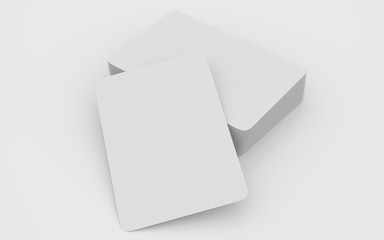 Playing cards mockup deck of playing cards isolated in white table 3D rendering illustration