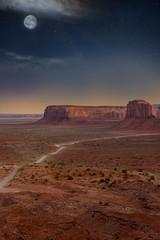 Autocollant pour porte Marron monument valley
