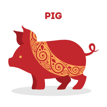 Vector illustration of traditional chinese zodiac animal