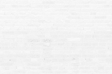 Old white brick wall texture background.