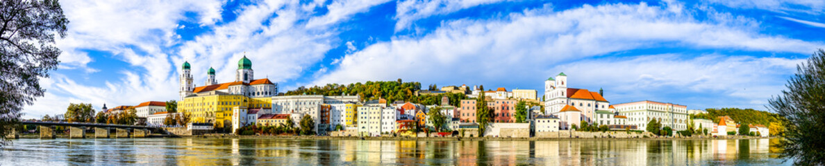 Acrylic Prints Ship passau - bavaria - old town