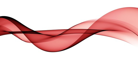 Door stickers Abstract wave Color light red abstract waves design