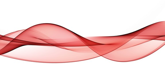 Color light red abstract waves design Fototapete
