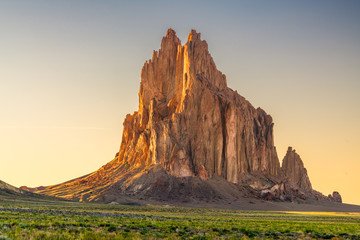 Fototapete - Shiprock, New Mexico, USA at the Shiprock