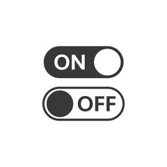 Vector illustration of on and off icons. Mode Toggle Switches
