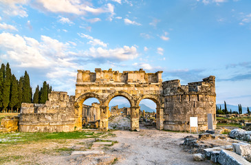 Wall Mural - The Domitian Gate at Hierapolis in Pamukkale, Turkey