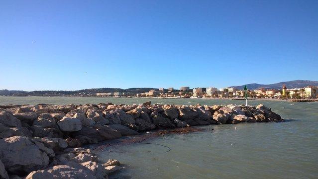view of port of cros de cagnes france