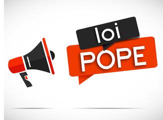 mégaphone rouge/noir : loi POPE Fotomurales