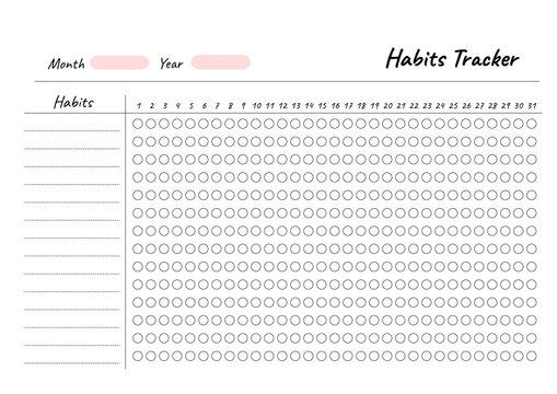 Habit Tracker Photos Royalty Free Images Graphics Vectors Videos Adobe Stock
