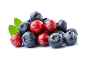 Sweet berry of cranberries and blueberries. Fototapete
