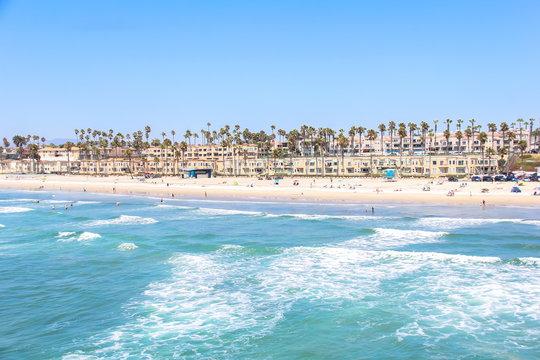 Oceanside Beach California taken from the Oceanside Pier