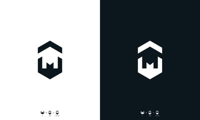 Modern abstract line art letter M house Logo. This logo icon incorporate with letter M and house in the creative way.