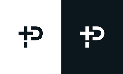 Minimalist abstract letter P Medical logo. This logo icon incorporate with letter P and medical icon in the creative way.