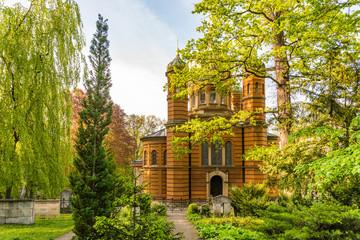 Russisch-Orthodoxe Kirche auf dem historischen Friedhof in Weimar