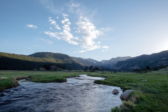 Meadow stream in Rocky Mountain National Park