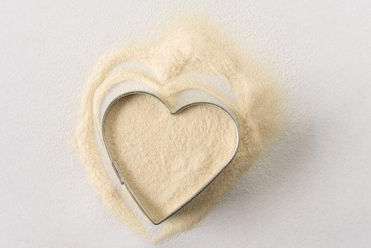 Xanthan Gum in a Heart Shape