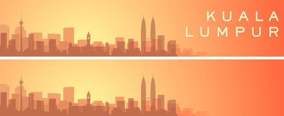 Kuala Lumpur Beautiful Skyline Scenery Banner