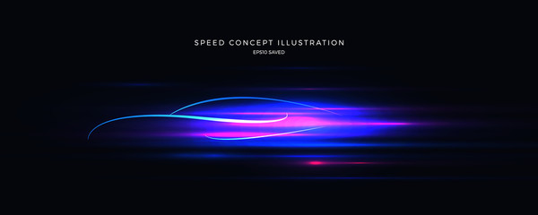 speed concept illustration, fast background Fotomurales