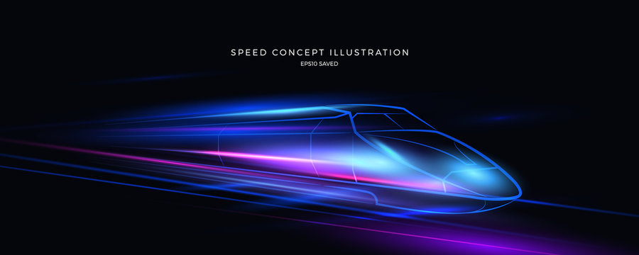 speed concept illustration, fast background