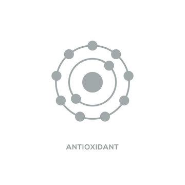 Antioxidant vector icon, radical free oxidant molecule