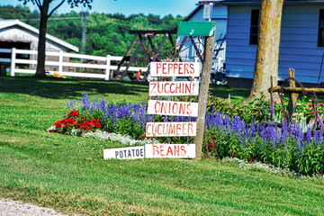 Produce Sign at Amish Residence