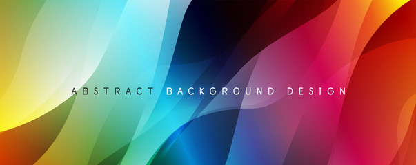 Fotobehang Abstract wave Trendy simple fluid color gradient abstract background with dynamic wave line effect. Vector Illustration For Wallpaper, Banner, Background, Card, Book Illustration, landing page