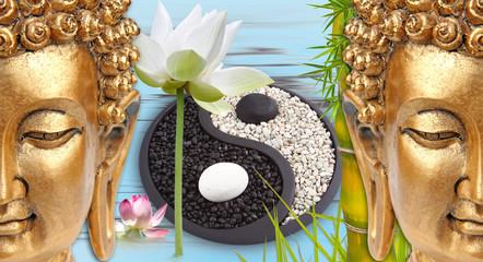 Bouddha zen yin yang