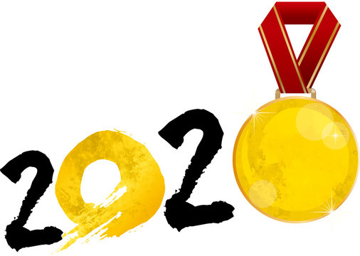 金メダル:金 水彩 2020年 金メダル 東京 東京オリンピック 東京五輪 五輪 スポーツ