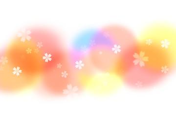 Wall Mural - 桜のパターン(背景はパステルカラーのぼけたテクスチュア)