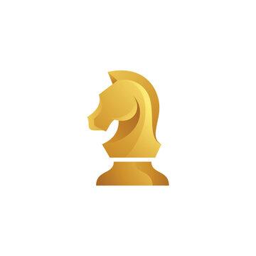 Knight Horse Chess Icon, Strategy Logo Design