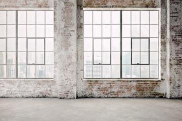 3d render of empty industrial vintage interior Fototapete