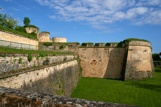 Inside the fortress walls of the city of Citadel of Blaye in Bordeaux