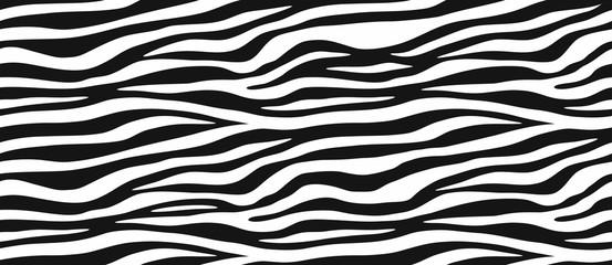 Graphic horizontal Zebra Stripes Wallpaper Murals