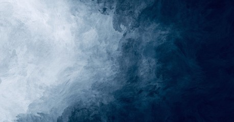 Abstract watercolor paint background dark blue color grunge  texture for background, banner Fotobehang