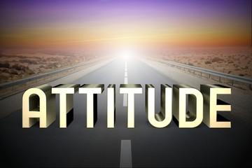 Attitude concept, road - 3D rendering