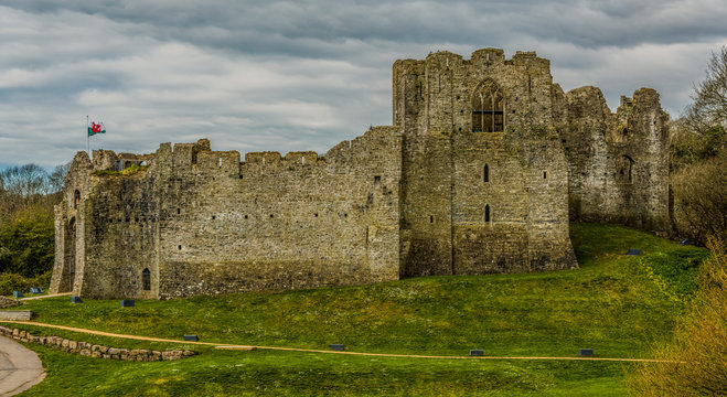 Oystermouth Castle, Swansea, Wales, UK