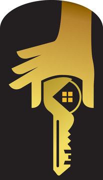 hand key logo