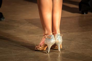 legs of woman dancing latin dance Wall mural