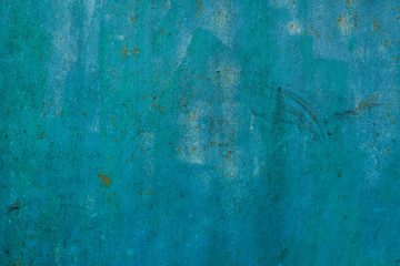 Photo sur Toile Retro Rusty metal painted texture background. Green color.