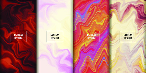 In de dag Graffiti Colorful Fluid art background. Marbled effect Liquid inks template for your design, banner, flyer, business card, poster, wallpaper, brochure.