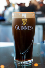 DUBLIN, IRELAND - FEB 15, 2014:  Pint of Guinness, the popular Irish beer
