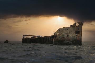 Ghost Shipwreck of the Sapona in the Bermuda Triangle