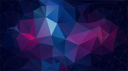 Abstract horizontal triangle background for your design - Vector