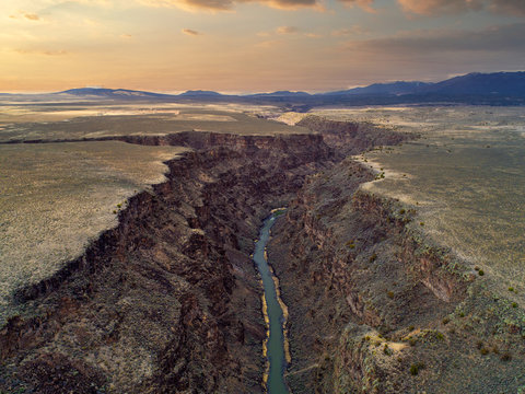 Rio Grande River in the Taos Gorge