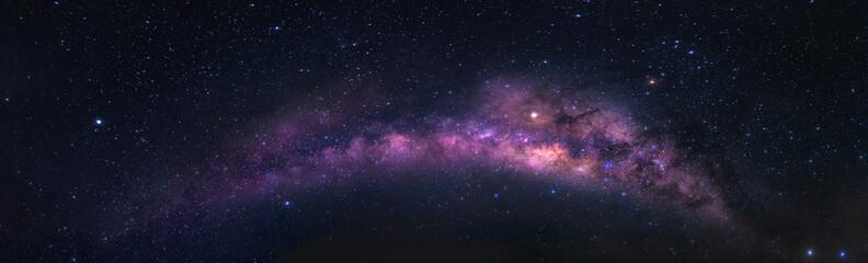 Night sky with panorama view of Milky Way