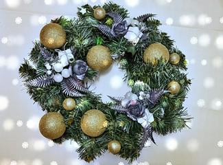 Obraz wianek bożonarodzeniowy  - fototapety do salonu